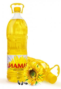 Слънчогледово олио Димамант - 2 литра - Фулмакс - гр. Пазарджик